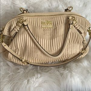 Large Coach Ivory Bag